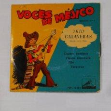 Discos de vinilo: VOCES DE MEJICO. TRIO CALAVERAS. MIGUEL RAUL PEPE. SELECCION Nº 1. TDKDS9. Lote 103526827