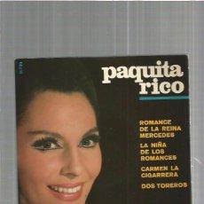 Discos de vinilo: PAQUITA RICO ROMANCE. Lote 103529115