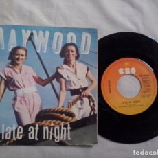 Discos de vinilo: MUSICA SINGLE: MAYWOOD - LATE AT NIGHT / ONE, TWO, THREE (ABLN). Lote 103531503