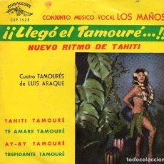 Discos de vinilo: CONJUNTO MUSICO-VOCAL LOS MAÑOS - EP 1963 - NUEVO RITMO DE TAHITÍ. Lote 103564787