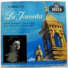 Discos de vinilo: DONIZETTI - LA FAVORITA (DISCO 2 DE 3 DISCOS) - ALBERTO EREDE - LP DECCA 1956 BPY. Lote 103569903