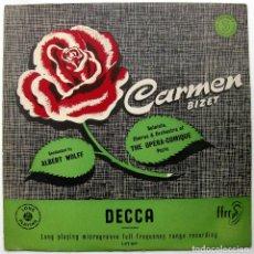 Discos de vinilo: BIZET - CARMEN (DISCO 3 DE 3 DISCOS) - ALBERT WOLFF - LP DECCA 1951 BPY. Lote 103571567