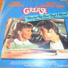 Discos de vinilo: GREASE - JOHN TRAVOLTA & OLIVIA NEWTON-JOHN - YOU'RE THE ONE THAT I WANT . Lote 103597903