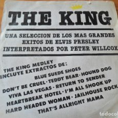 Discos de vinilo: PETER WILLCOX - THE KING MIX - ELVIS PRESLEY MEDLEY -. Lote 103599015