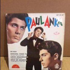 Discos de vinilo: PAUL ANKA / UH HUH / EP / ABC-PARAMOUNT-1962 / MBC. ***/***. Lote 103609719