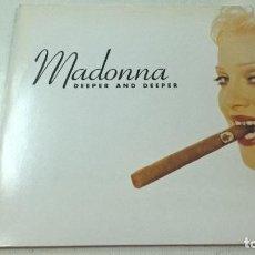 Discos de vinilo: MADONNA-DEEPER AND DEEPER-MAXI SINGLE-N. Lote 103624887