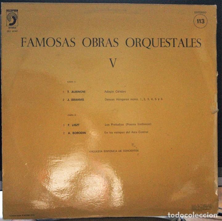 Discos de vinilo: REGALA-TE MÚSICA CLÁSICA: *FAMOSAS OBRAS ORQUESTALES V* Nº 113 - Foto 2 - 103626175