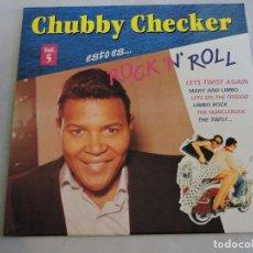 Discos de vinilo: CHUBBY CHECKER - ESTO ES ROCK 'N' ROLL VOL.5 LP. Lote 103636907