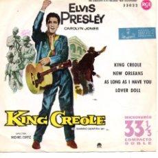Discos de vinilo: ELVIS PRESLEY, EP, KING CREOLE + 3, AÑO 1961. Lote 103667879