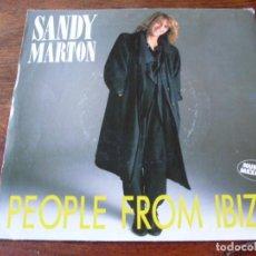 Discos de vinilo: SANDY MARTON - PEOPLE FROM IBIZA - SINGLE PRODUCCIONES TWINS AÑO 1986 ( NUEVAS MEZCLAS ). Lote 103674067