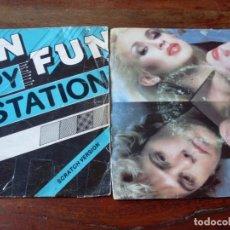 Discos de vinilo: LOTE DE 2 SINGLES FUN FUN Y DOLLAR - HAPPY STATION / MIRROR MIRROR - ITALO DISCO AÑOS 80. Lote 103676627