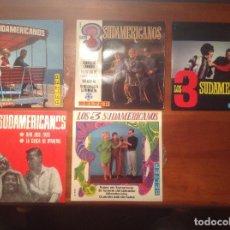 Discos de vinilo: LOS 3 SUDAMERICANOS 5 SINGLES 45RPM . Lote 103678323