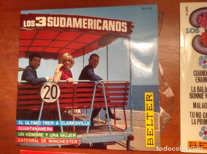 Discos de vinilo: Los 3 Sudamericanos 5 singles 45rpm - Foto 2 - 103678323