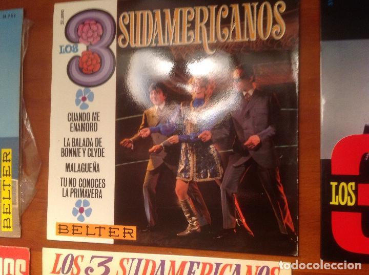 Discos de vinilo: Los 3 Sudamericanos 5 singles 45rpm - Foto 3 - 103678323