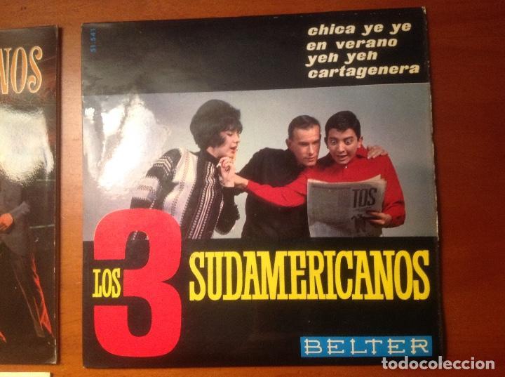 Discos de vinilo: Los 3 Sudamericanos 5 singles 45rpm - Foto 4 - 103678323