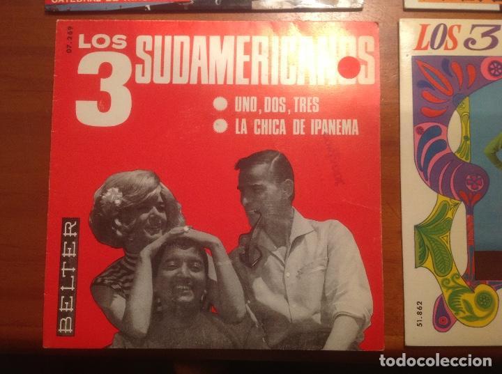 Discos de vinilo: Los 3 Sudamericanos 5 singles 45rpm - Foto 5 - 103678323
