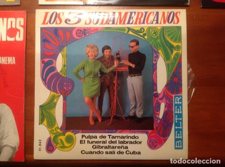 Discos de vinilo: Los 3 Sudamericanos 5 singles 45rpm - Foto 6 - 103678323