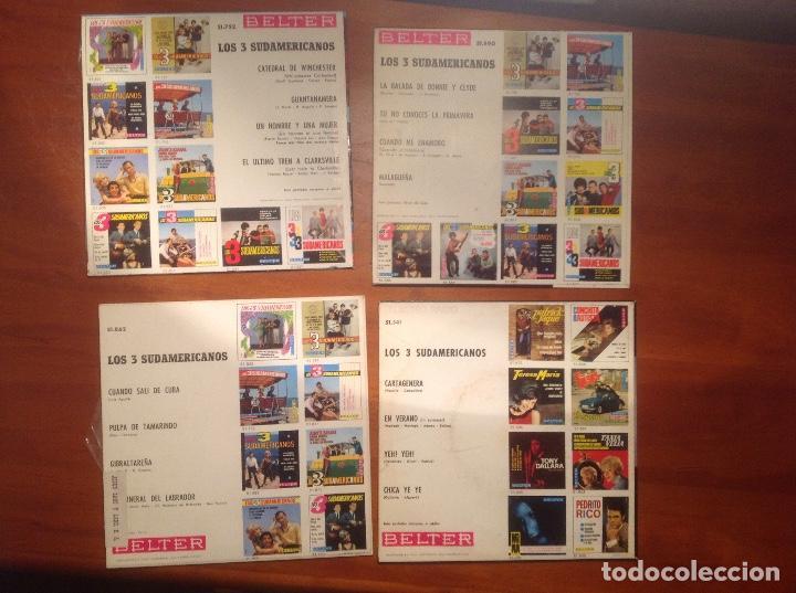 Discos de vinilo: Los 3 Sudamericanos 5 singles 45rpm - Foto 7 - 103678323