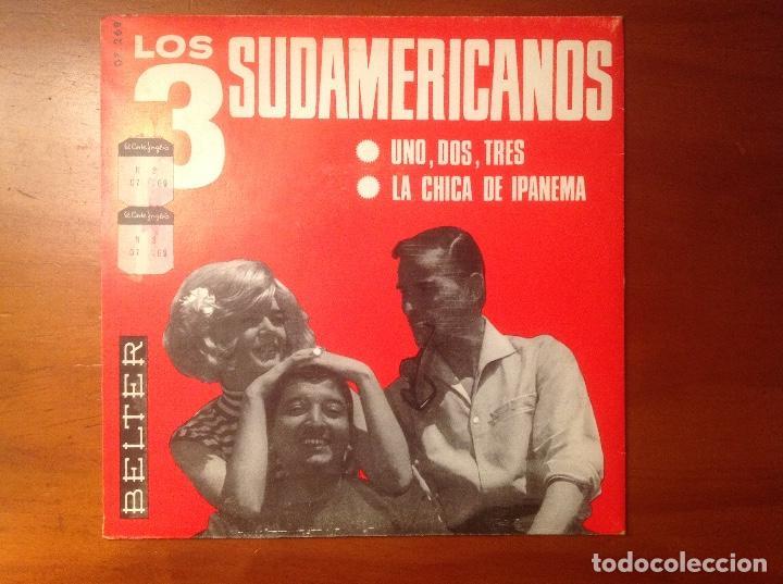 Discos de vinilo: Los 3 Sudamericanos 5 singles 45rpm - Foto 8 - 103678323