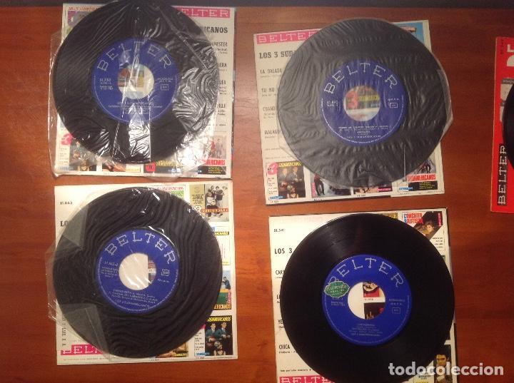 Discos de vinilo: Los 3 Sudamericanos 5 singles 45rpm - Foto 9 - 103678323