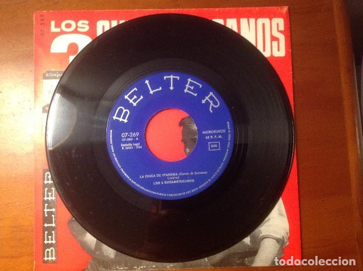 Discos de vinilo: Los 3 Sudamericanos 5 singles 45rpm - Foto 11 - 103678323