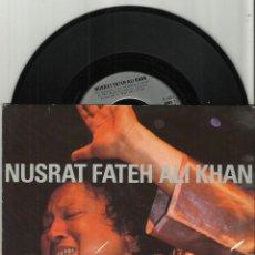 Discos de vinilo: NUSRAT FATEH ALI KHAN SINGLE MUST MUST + THE GAME 1990 REMIX MASSIVE ATTACK. Lote 103680467