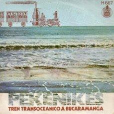 Discos de vinilo: LOS PEKENIKES, SG, TREN TRANSOCEANICO A BUCARAMANGA + 1, AÑO 1970. Lote 103690563