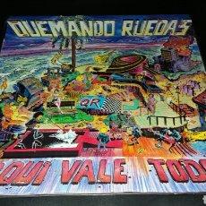 Discos de vinilo: QUEMANDO RUEDAS-AQUI VALE TODO- BASATI DISKAK 1990.ROCK RADIKAL VASCO.. Lote 103695740