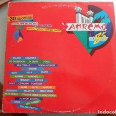Discos de vinilo: *** SANREMO '85 - 30 SUCCESSI - DOBLE LP 1985 - MADE IN ITALY - LEER DESCRIPCIÓN. Lote 103709367