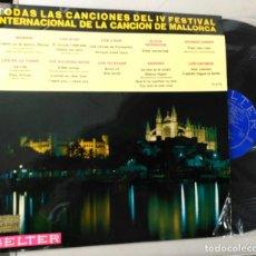Discos de vinilo: IV FESTIVAL INTERNACIONAL DE LA CANCIÓN DE MALLORCS. Lote 103710563