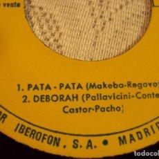 Discos de vinilo: MIRIAN MAKEBA Y DEBOTAH Y DEBORAH (PALLAVICINI-CONTE), PATA PATA, 1967 Y 1968. Lote 103713331