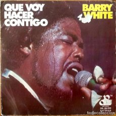 Discos de vinilo: BARRY WHITE : WHAT AM I GONNA DO WITH YOU [ ESP 1975]. Lote 103725187