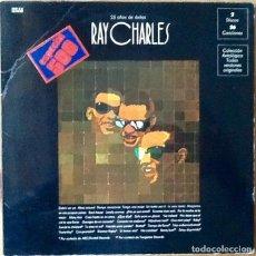 Discos de vinilo: RAY CHARLES : 25 AÑOS DE EXITOS [ESP 1972]. Lote 103727255