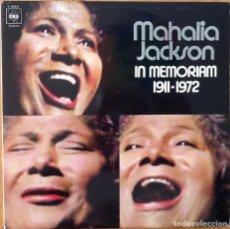 Discos de vinilo: MAHALIA JACKSON : IN MEMORIAM 1911-1972 [ESP 1972] LPX2. Lote 103728427