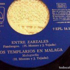Discos de vinilo: NIÑO DE MARCHENA / ENTRE ZARZALES / LOS TEMPLARIOS EN MALAGA + 2 (EP 1964). Lote 103730363