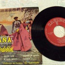 Discos de vinilo: PASODOBLES DE ESPAÑA, 1961. Lote 103730755