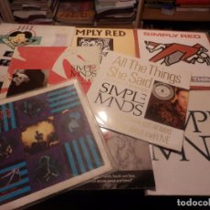 Discos de vinilo: SIMPLY RED + SIMPLE MINDS - LOTE DE 9 MAXI SINGLE - VER LISTADO. Lote 103742491