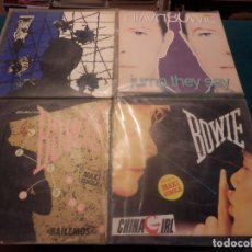 Discos de vinilo: DAVID BOWIE - LOTE 4 MAXIS - JUMP THEY SAY + BLUE JEAN + LETS DANCE + CHINA GIRL - VER DETALLES. Lote 103743703
