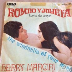 Discos de vinilo: HENRY MANCINI. ROMEO Y JULIETA / THE WINDMILLS OF YOUR MIND. RCA 1969. Lote 103746815