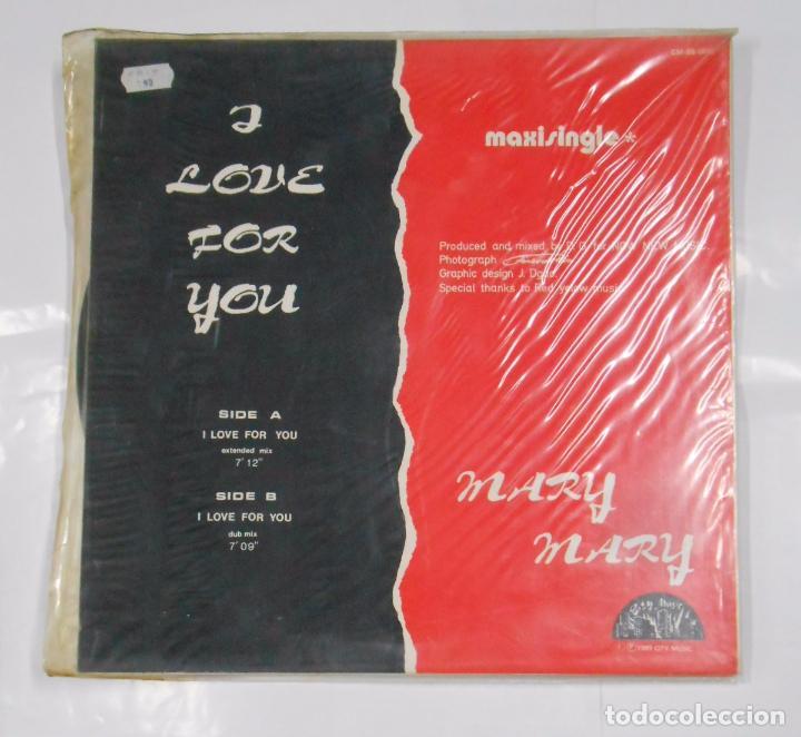 Discos de vinilo: MARY MARY. A LOVE FOR YOU. CITY MUSIC. MAXI SINGLE. TDKDA21 - Foto 2 - 103750583