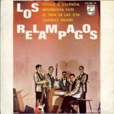 Discos de vinilo: LOS RELAMPAGOS HIMNO A VALENCIA DISCO DE 4 CANCIONES AÑO 1964. Lote 103752163