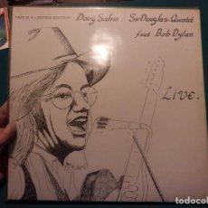 Discos de vinilo: DOUG SAHM / SIR DOUGLAS QUINTET FEAT. BOB DYLAN - LIVE - LP 10 TEMAS - UNIVERSE PRODUCTIONS 1984. Lote 103758747