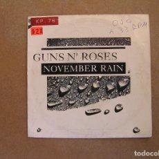 Discos de vinilo: GUNS N' ROSES – NOVEMBER RAIN - GEFFEN RECORDS 1991 - SINGLE - P. Lote 103766367