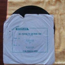 Discos de vinilo: ZINGARA - IO SOGNO. Lote 103772999