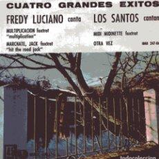 Discos de vinilo: CUATRO GRANDES EXITOS - FREDY LUCIANO - LOS SANTOS (EP 1962). Lote 103780159