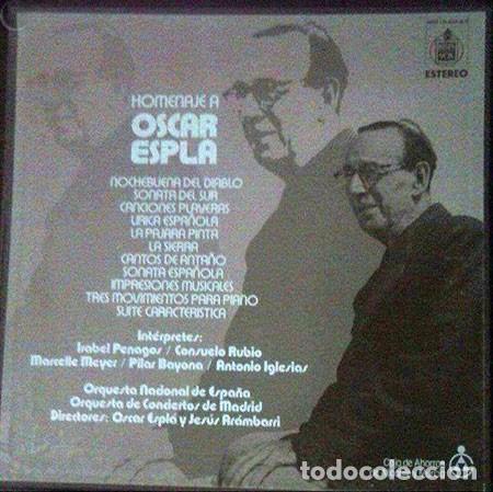 TRIPLE LP VINILO HOMENAJE OSCAR ESPLA (Música - Discos - Singles Vinilo - Orquestas)