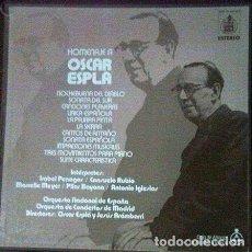 Discos de vinilo: TRIPLE LP VINILO HOMENAJE OSCAR ESPLA. Lote 103782347