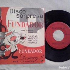 Discos de vinilo: MUSICA SINGLE: DISCO SORPRESA FUNDADOR CANCIONES MEXICANAS (ABLN). Lote 103783723