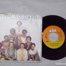 Discos de vinilo: MUSICA SINGLE: EARTH WIND & FIRE - BACK ON THE ROAD / TAKE IT TO THE SKY (ABLN). Lote 103787351