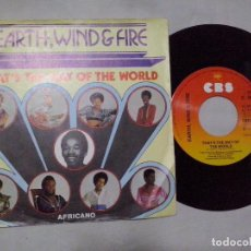 Discos de vinilo: MUSICA SINGLE: EARTH WIND & FIRE - THAT´S THE WAY OF THE WORLD / AFRICANO (ABLN). Lote 103787723